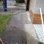 ukázka práce čištění chodníků
